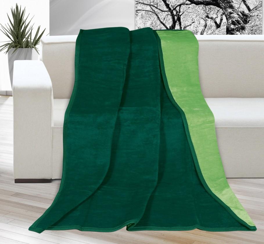 Karmela Plus - Deka 150x200 2210/035 (sv. zelená/tm. zelená)