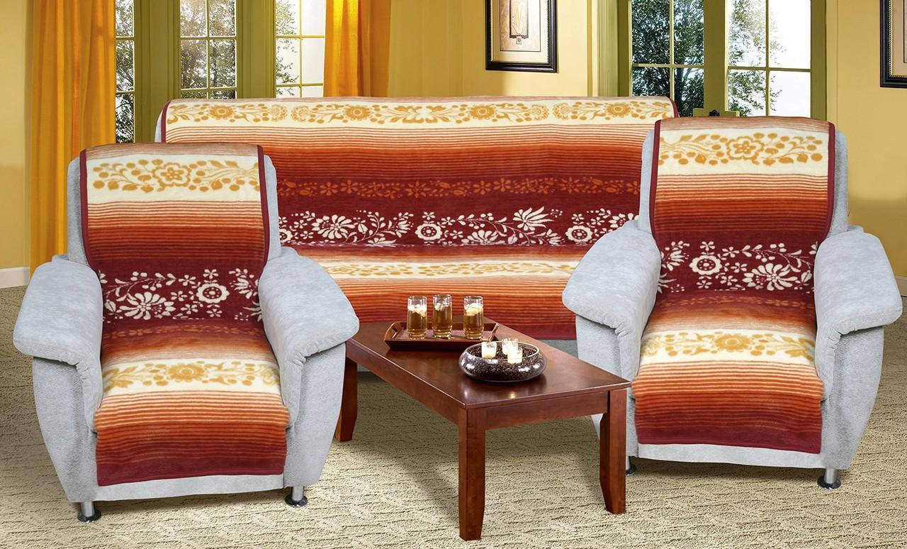 Karmela Plus - Prehozové deky, 6813/110 (kvetiny medové)