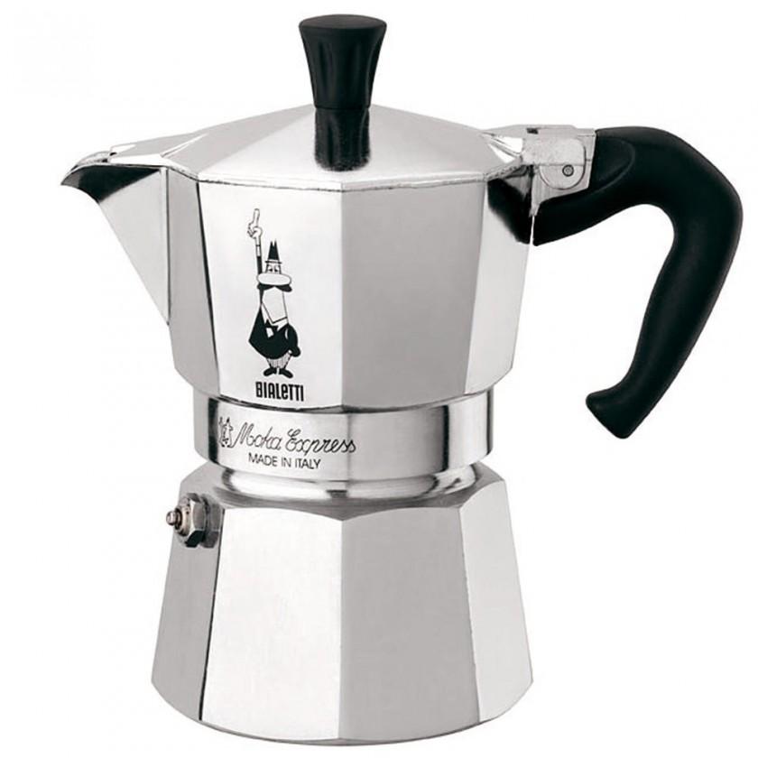 Kávovar Bialetti Moka Express 1, strieborna