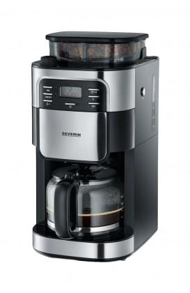 Kávovar Kávovar Severin KA4810, nerez / čierna, s kávomlynčekom