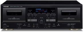 Kazetový rádiomagnetofón TEAC W-1200, čierny