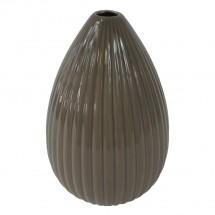 Keramická váza VK38 hnedá lesklá (25 cm)