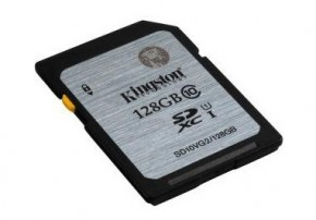 Kingston 128GB SDXC Class10 UHS-I až 45MB / s (SD10VG2 / 128GB) O