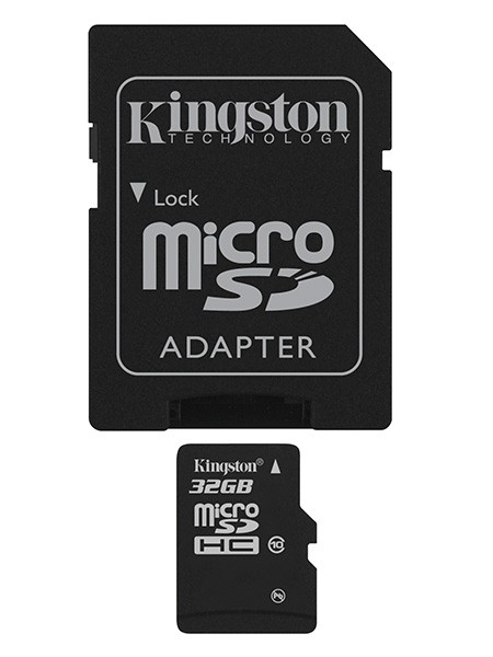 Kingston Micro SDHC 32GB Class 10 + adaptér - SDC10 / 32GB ROZBAL