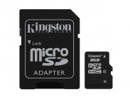 Kingston Micro SDHC 8GB Class 4 + adaptér - SDC4/8GB