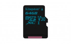 Kingston Micro SDXC Canvas Go! 64GB 90MB/s UHS-I U3 SDCG2/64GBSP