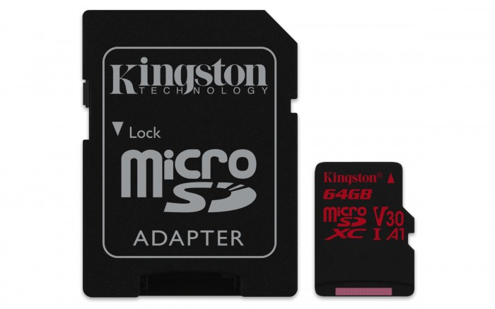Kingston Micro SDXC Canvas React 64GB 100MB/s UHS-I + SD adaptér