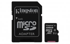 Kingston Micro SDXC Canvas Select 128GB+ SD adaptér SDCS/128GB