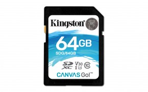 Kingston SDXC Canvas Go! 64GB, UHS-I U3  SDG/64GB