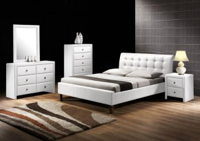 Kirsty - Posteľ 200x160, rám postele, rošt (biela)