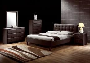 Kirsty - Posteľ 200x160, rám postele, rošt (tmavo hnedá)