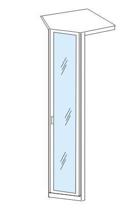 Klasická Cassanova - Rohový prvok (dub bardolino/zrkadlo)