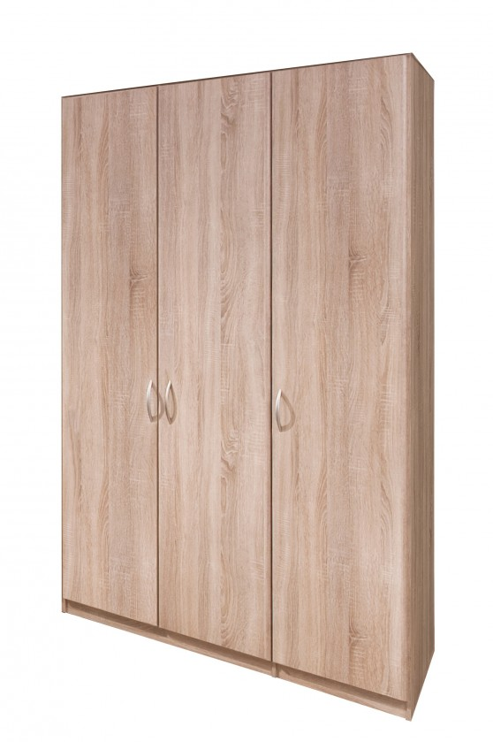 Klasická Cassanova - Šatníková skriňa, 3x dvere (dub bardolino)