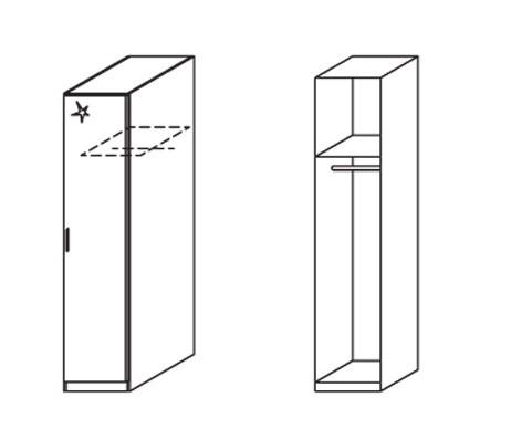 Klasická Celle, 1x dvere