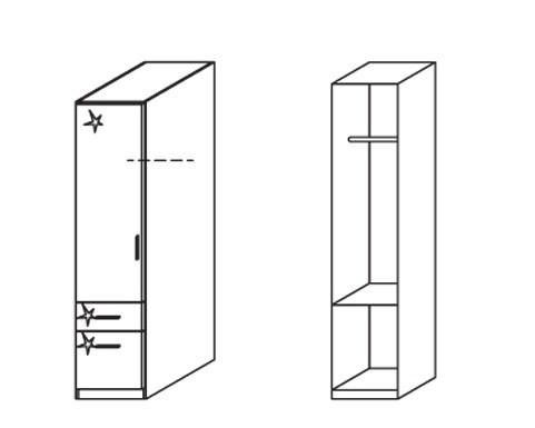 Klasická Celle, 1x dvere ľavá