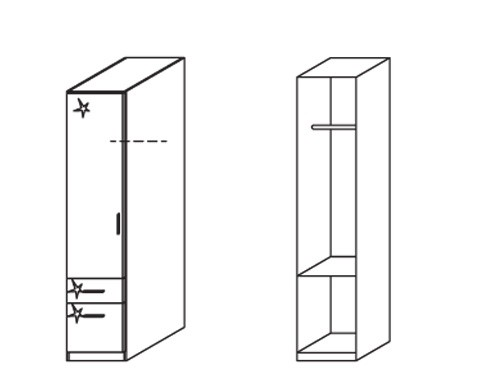 Klasická Celle, 1x dvere, ľavá