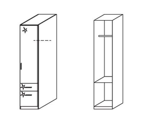 Klasická Celle, 1x dvere, pravá