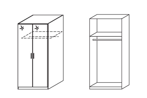 Klasická Celle, 2x dvere