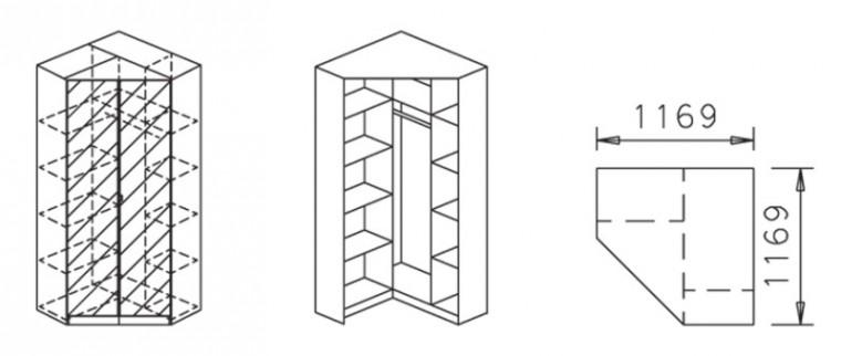Klasická Celle, 2x dvere so zrk.