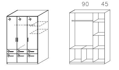 Klasická Celle AK325.4876 (Orech / biela lesk)
