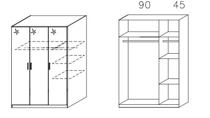 Klasická Celle AM625.0EL1 (dub sonoma / biela lesk)