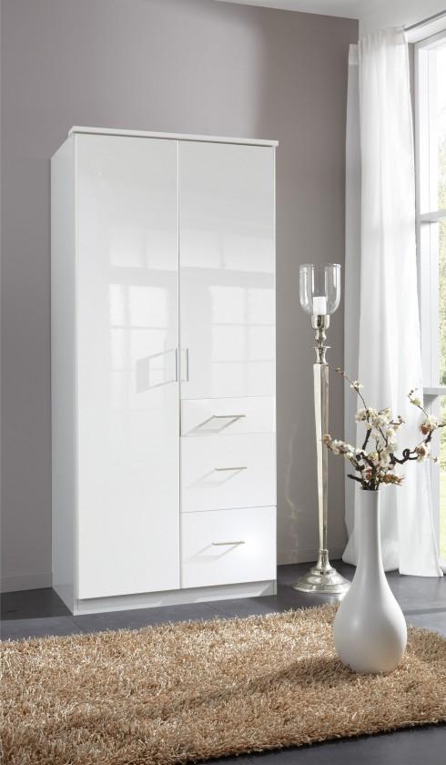 Klasická Clack - Skriňa, 2x dvere (biela, biela)