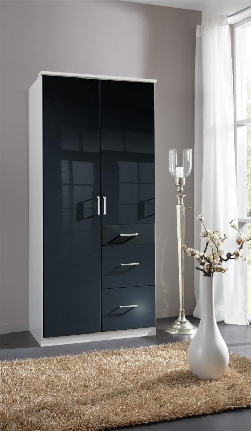 Klasická Clack - Skriňa, 2x dvere (čierna, biela)