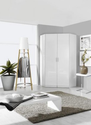 Klasická Clack - Skriňa rohová, 2x dvere (biela, biela)