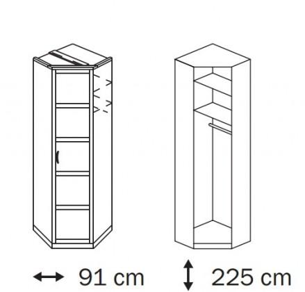 Klasická Elementa A A1006.5073 (Buk natur/sklo biele)