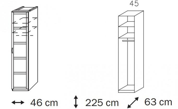 Klasická Elementa A A1006.50R1 (Buk natur/sklo bordó)