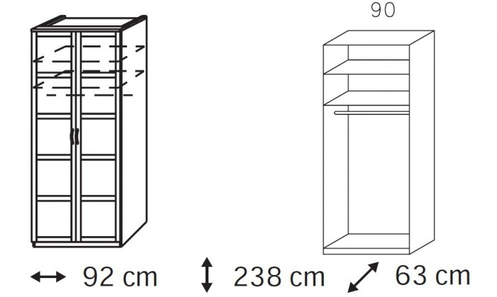 Klasická Elementa A A1006.50S2 (Buk natur/sklo čierne)