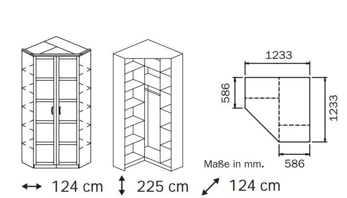 Klasická Elementa A A1006.50S6 (Buk natur/sklo čierne)