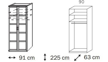 Klasická Elementa A A1006.50U2 (Buk natur/sklo bledohnedé)