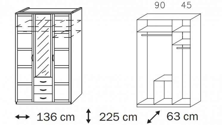 Klasická Elementa A A9186.50R3 (Alpská biela/sklo bordó)