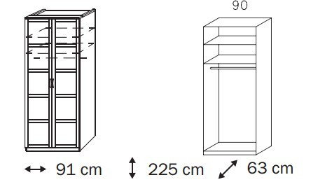 Klasická Elementa C A1008.50S2 (Buk natur/sklo čierne)