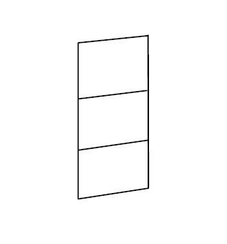 Klasická Match Up - dvere, 3x dekor sklo/zrkadlo (313,čierne sklo)
