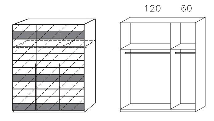 Klasická Nala AS806.51B3 (čierna/čierne sklo)