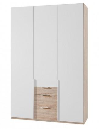 Klasická NewYork12 - Skriňa, 135/234/58 (alpská biela/dub)