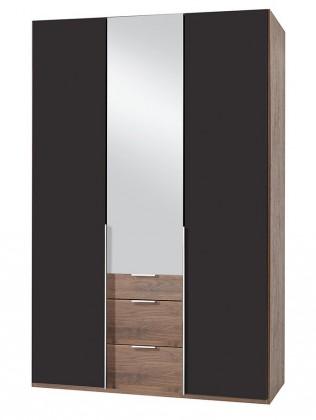 Klasická NewYork16 - Skriňa, 135/234/58 (láva/orech)