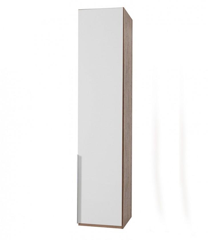 Klasická NewYork22 - Skriňa, 45/208/58 (alpská biela/orech)
