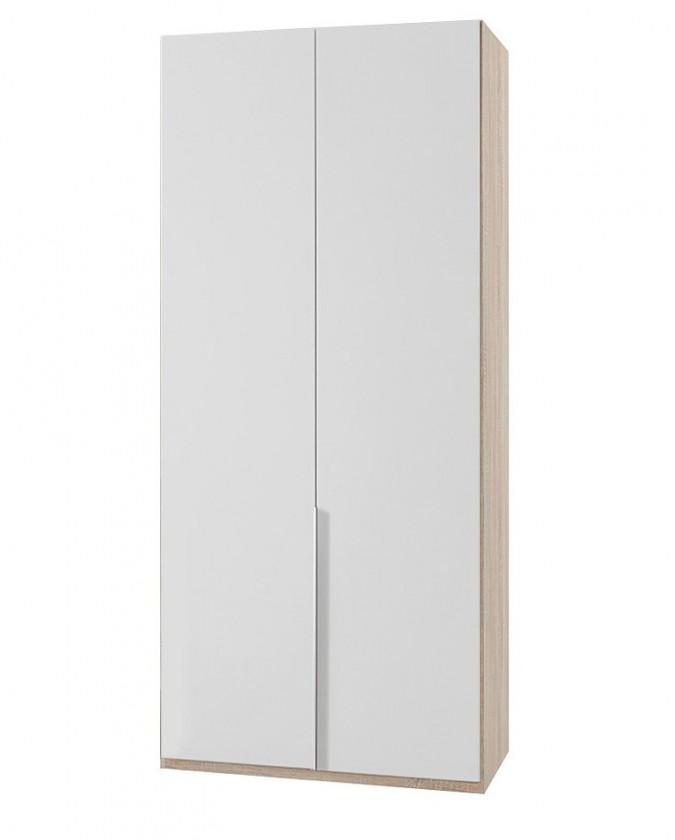 Klasická NewYork23 - Skriňa, 90/208/58 (alpská biela/dub)