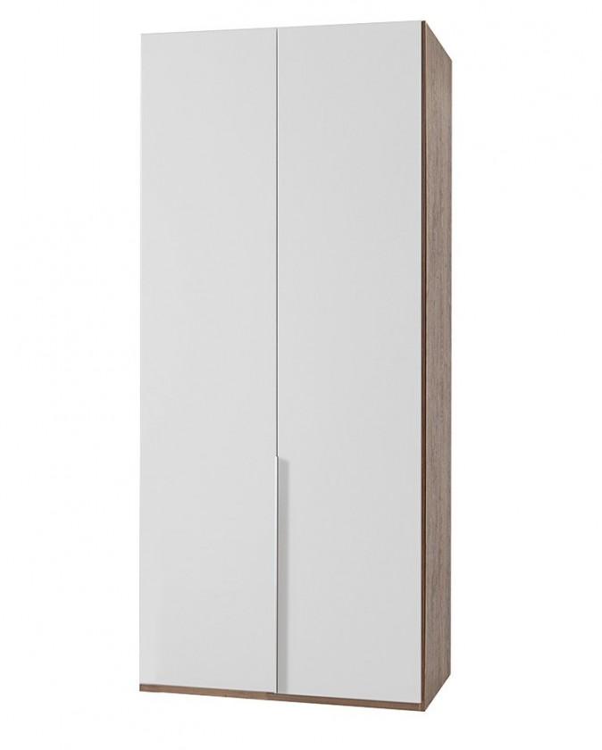 Klasická NewYork23 - Skriňa, 90/208/58 (alpská biela/orech)