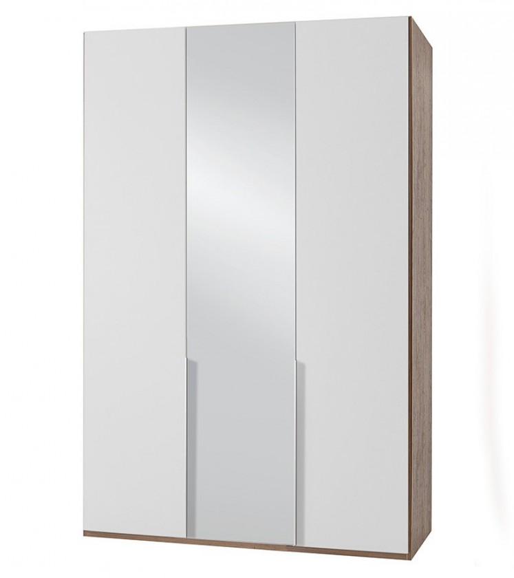 Klasická NewYork29 - Skriňa, 135/208/58 (alpská biela/orech)