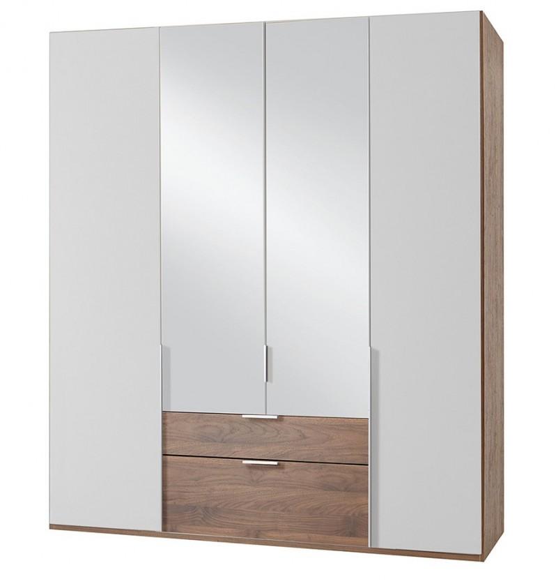 Klasická NewYork38 - Skriňa, 180/208/58 (alpská biela/orech)