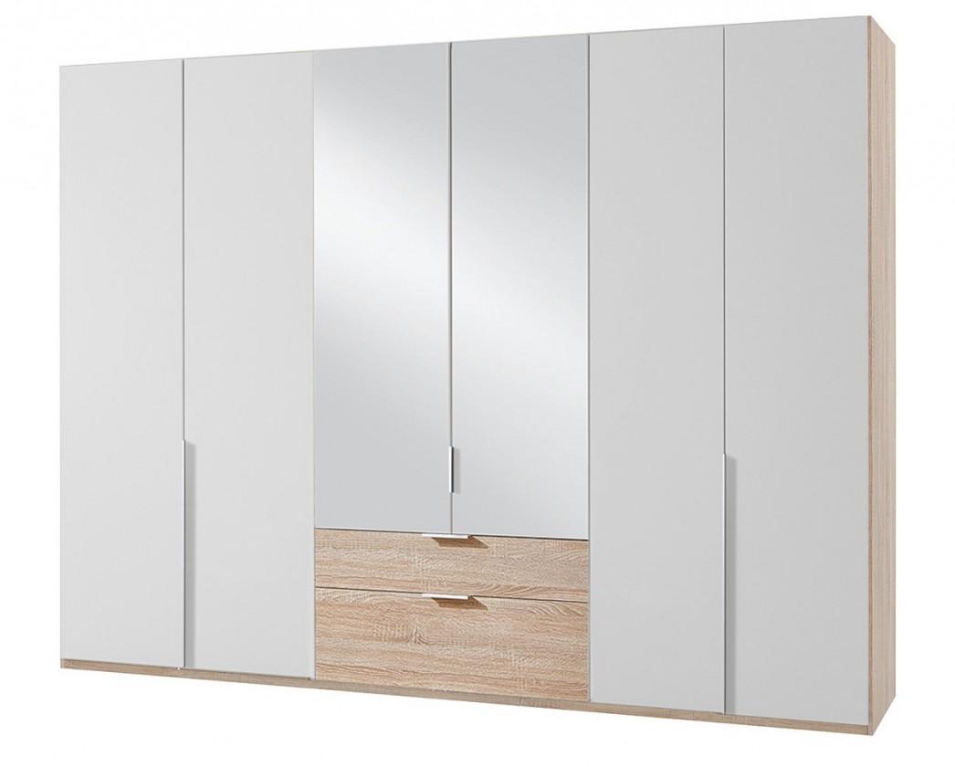 Klasická NewYork40 - Skriňa, 270/208/58 (alpská biela/dub)