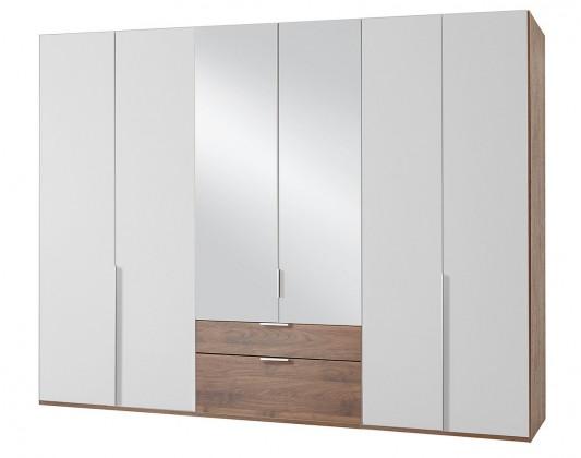 Klasická NewYork40 - Skriňa, 270/208/58 (alpská biela/orech)