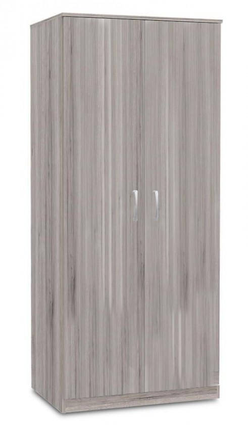 Klasická Niko - Šatníková skriňa, 2x dvere (dub pieskový)