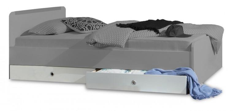 Klasická posteľ Bibi - Úložný priestor k posteli 90x200 (alpská biela, oranžová)