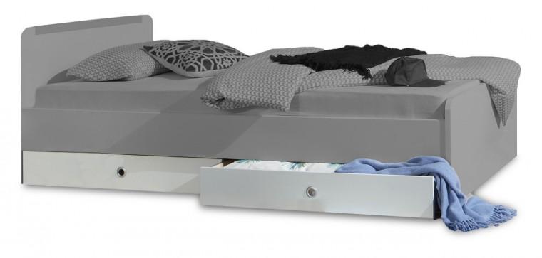 Klasická posteľ Bibi - Úložný priestor k posteli (alpská biela, zelené jablko)