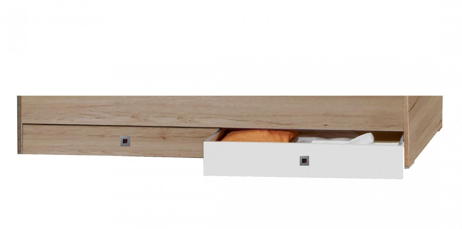 Klasická posteľ Cariba - Úložný prostor pod Posteľ (san remo dub, biela)